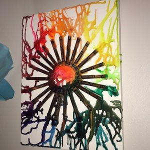 My crayon canvas art